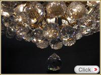 ボール状クリスタルシャンデリア8