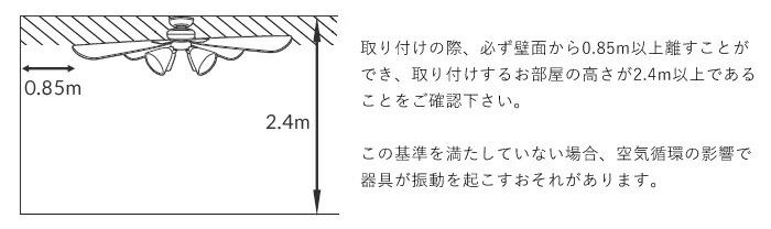 リモコン付 シーリングファン Windouble サーキュレーター オシャレ