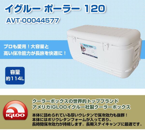 igloo(イグルー) クーラーボックス ポーラー 120 [POLAR 120 WHITE] [容量:約114L]