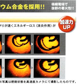 イリジウムIXプラグは、一般プラグに比べ、火炎の広がりが早くエネルギーロス(消炎作用)が少ない高性能プラグです。