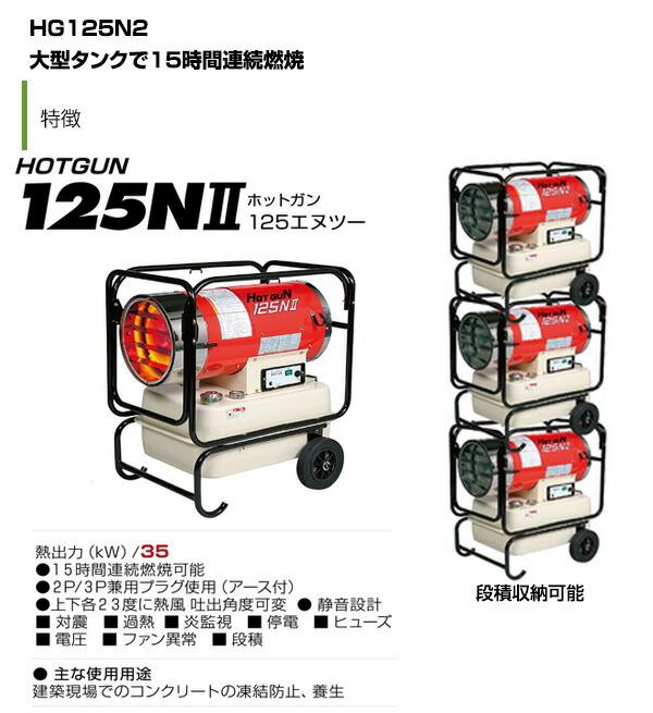 熱風式ヒーター hg125n2
