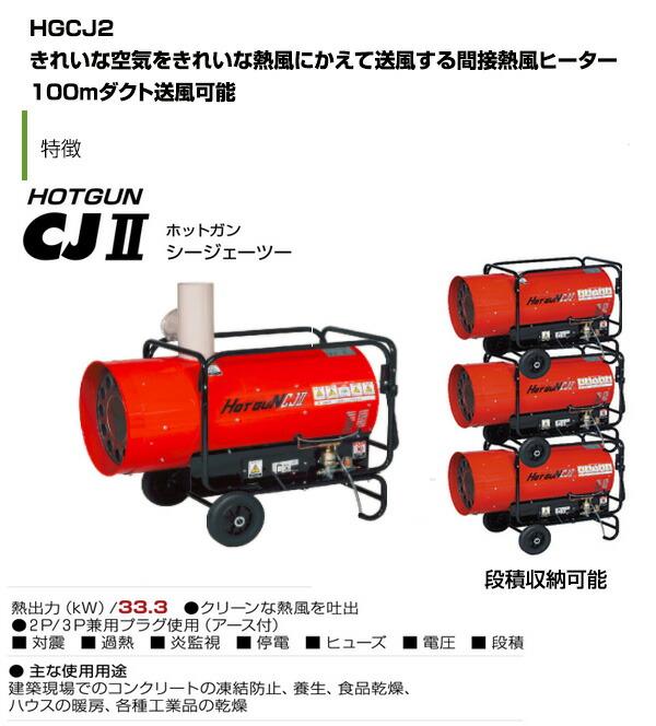 熱風式ヒーター hgcj2