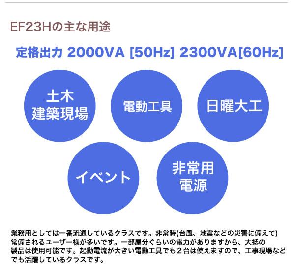 ヤマハ 4サイクル発電機 EF23H