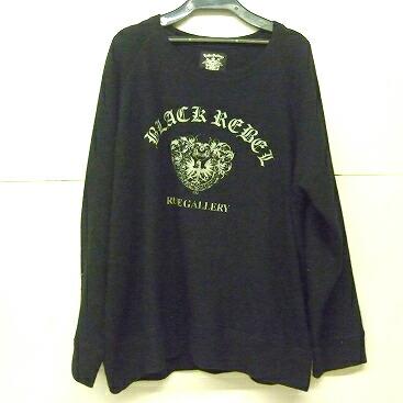 【中古】RUDE GALLERY BLACK REBEL/ルードギャラリー ブラックレベル クルーネック ニット ブラック系 【メンズ古着】【SIZE:L】【121】【福山店】