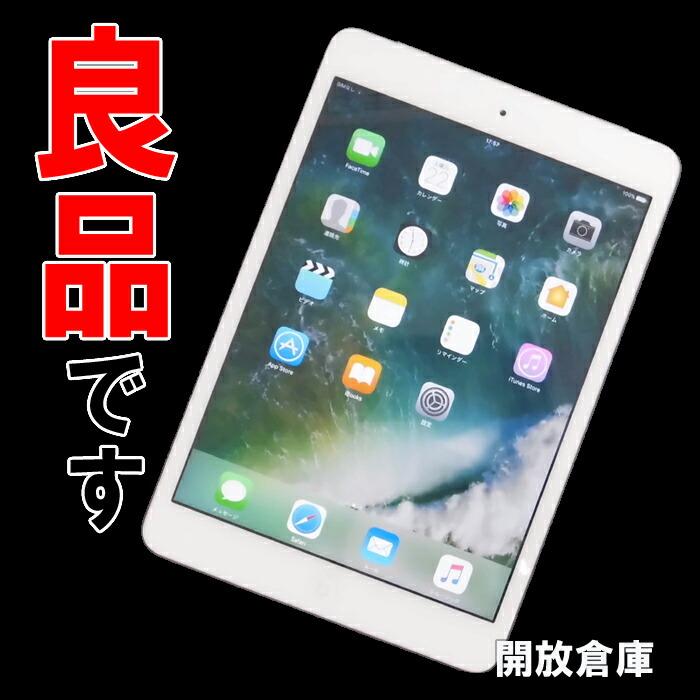 ★良品!Softbank版 Apple iPad mini2 Wi-Fi+Cellular 16GB シルバー 第2世代 ME814J/A 【中古】【利用制限:○】【iOS 10.0.2】【タブレットPC】【山城店】