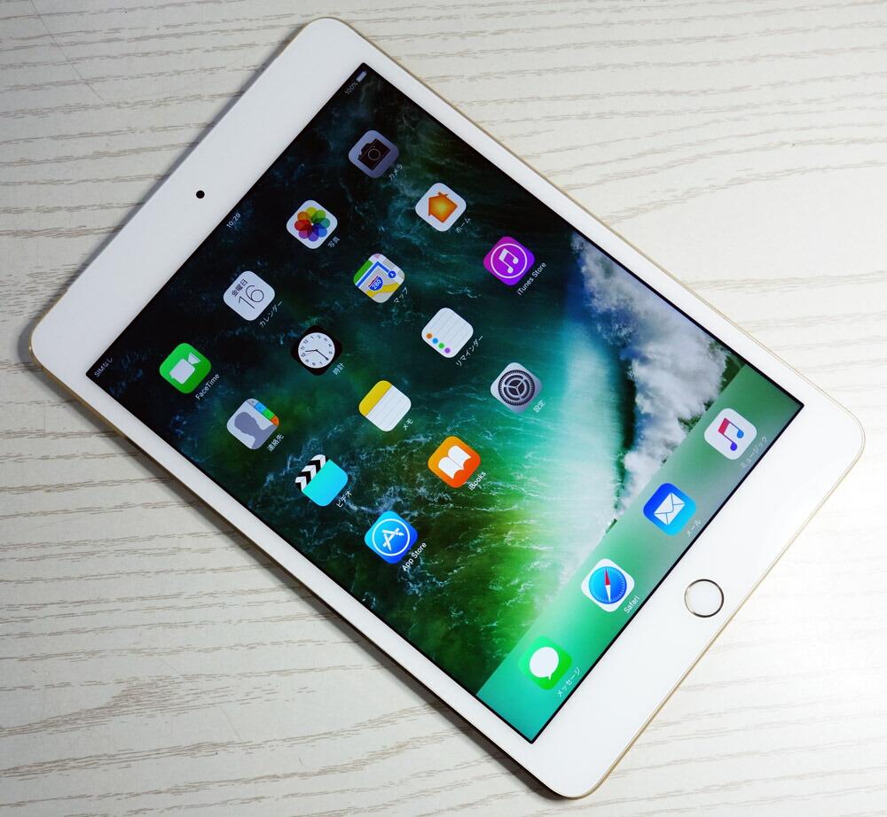 ☆残債なし!☆【中古】【美品】docomo Apple iPad mini4 Wi-Fi+Cellular 128GB NK782J/A Gold 【白ロム】【タブレット・Tablet】【家電】[164]【福山店】