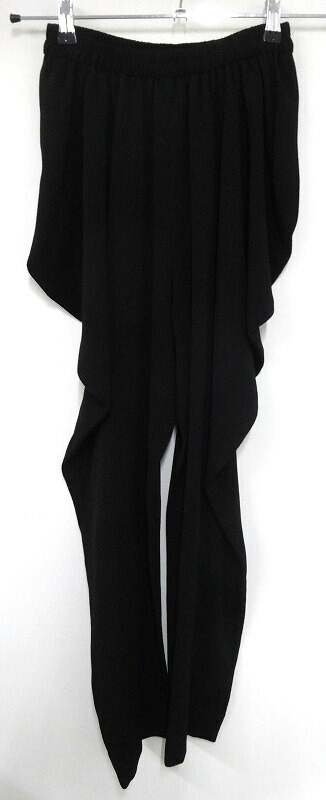 【中古】詩仙堂/しせんどう 変形パンツ デザインパンツ ブラック/黒 日本製【ボトムス】【レディース古着】[137]【福山店】