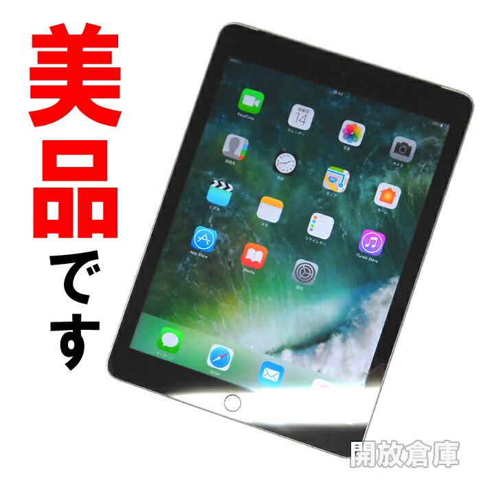 ★美品!!Softbank版 Apple iPad 2017年モデル 9.7インチ Wi-Fi+Cellular 32GB スペースグレイ MP1J2J/A 【中古】【利用制限:▲】【タブレットPC】【山城店】