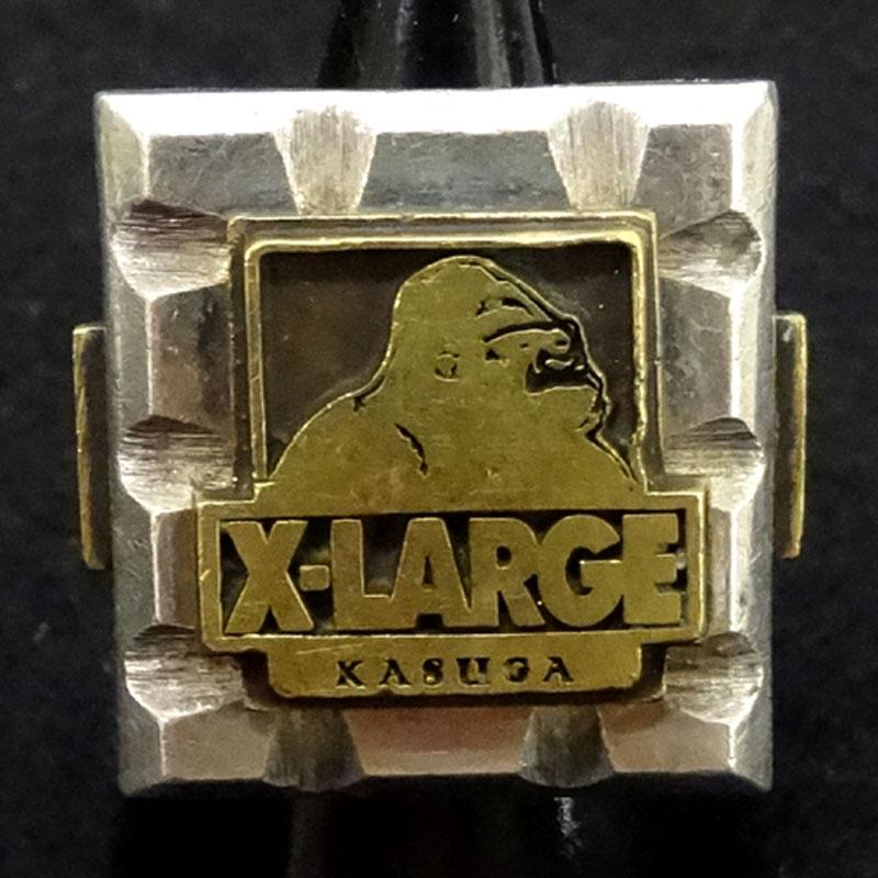 X-LARGE(エックスラージ) リング/カラー:シルバー/KASUGA/ゴリラ《リング/指輪》【服飾小物】【中古】【山城店】