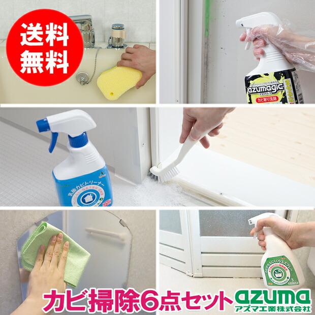 浴室徹底カビ掃除6点セット