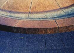 ピカソ 御影石に付いた温泉水の鉄分・水アカの 洗浄・汚れ落とし