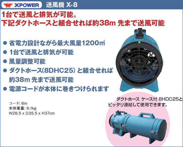 株式会社ソニカル XPOWER 送風機 X-8