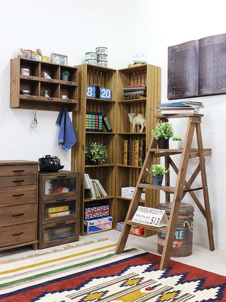 古材風家具シリーズ タミアシリーズで揃えた部屋イメージ