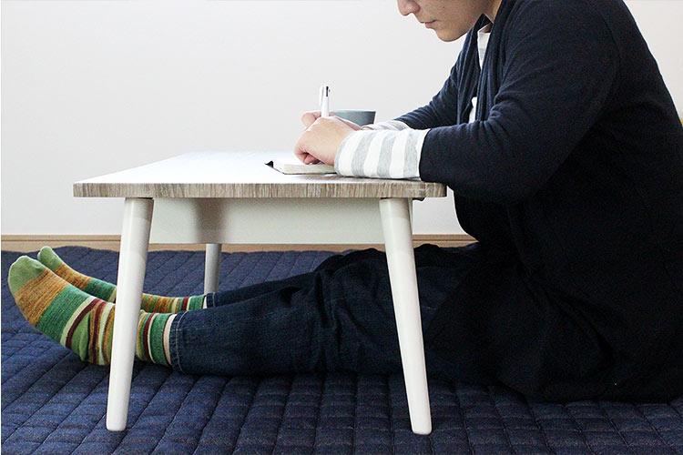 グレー 天板 センターテーブル 子供使用イメージ
