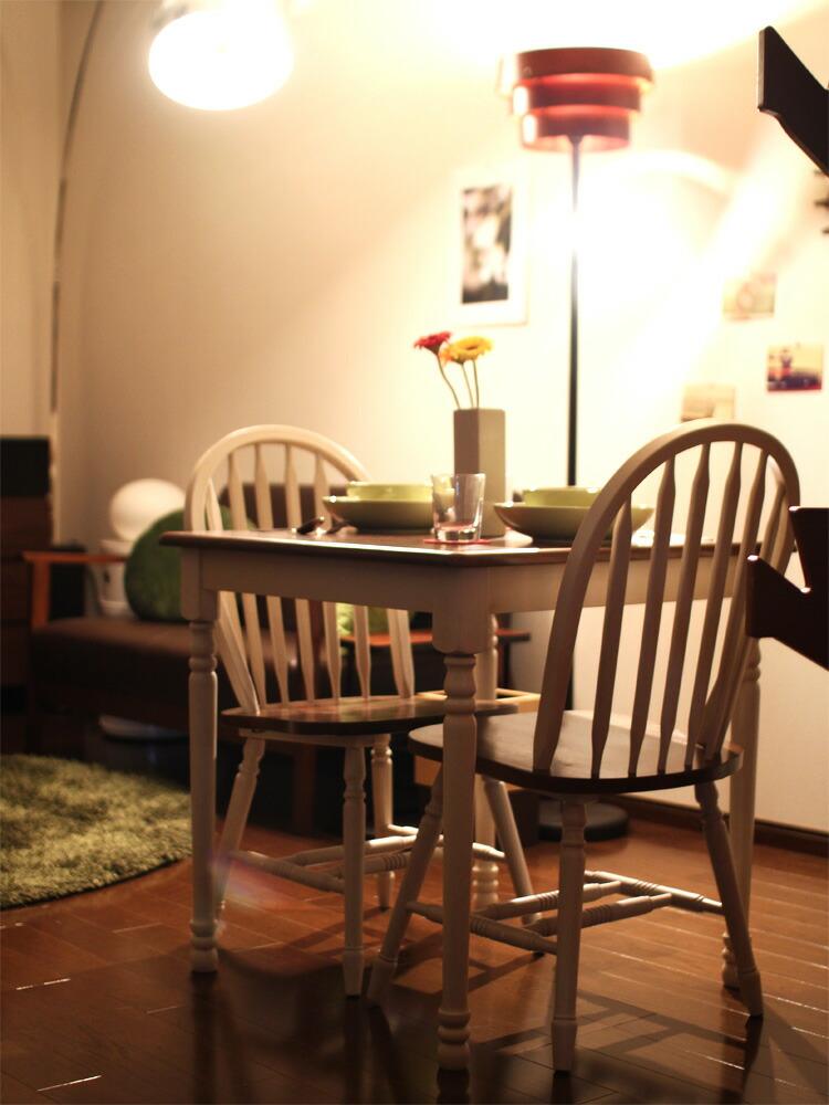 アンティーク調 家具シリーズ マキアート ダイニングチェア すっきりとした見た目のベンチ