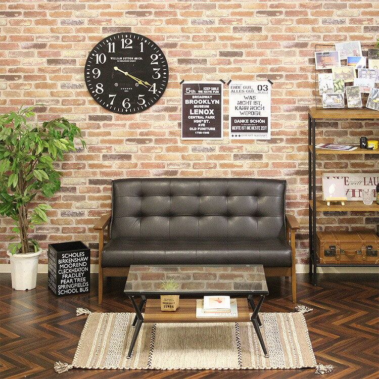 レトロスタイルのソファ フレンズ 2人掛け ブルックリンイメージ