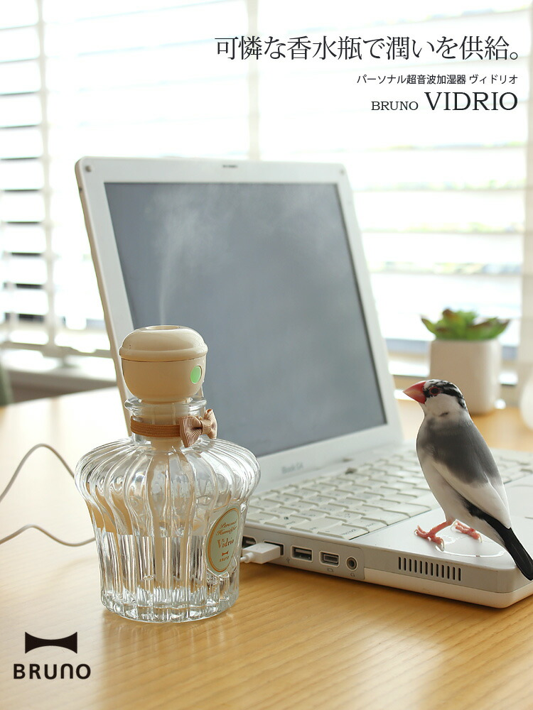 BRUNO(ブルーノ) パーソナル超音波加湿器 ヴィドリオ Vidrio BDE011