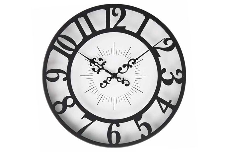 掛け時計 アンティーク 白 黒 モノトーン ジゼル
