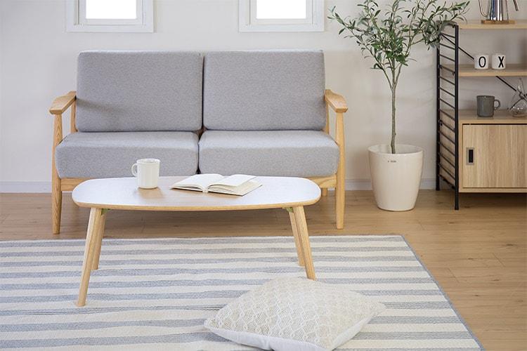 折りたたみ式のおしゃれなローテーブルを教えてください