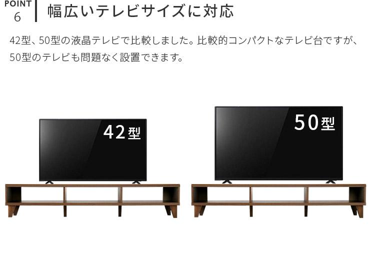 オープンタイプのシンプルテレビボード デルタ DELTA くつろぎのロースタイルに