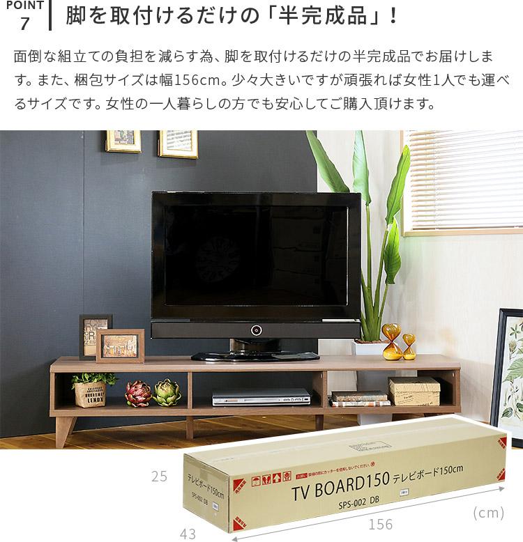 オープンタイプのシンプルテレビボード デルタ DELTA イメージ
