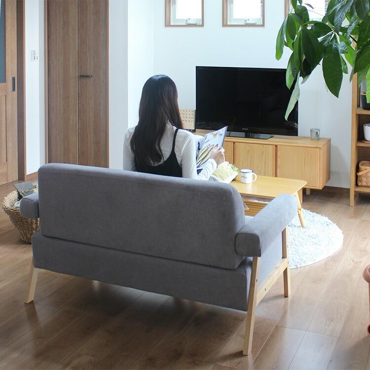 北欧風ソファ 二人掛け ココン cocon お部屋の真ん中に置いてもOK!