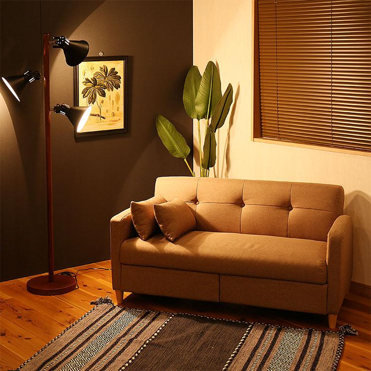 引出し付きソファ コンタ Conta 便利な引出しと二人掛けソファーの組み合わせ
