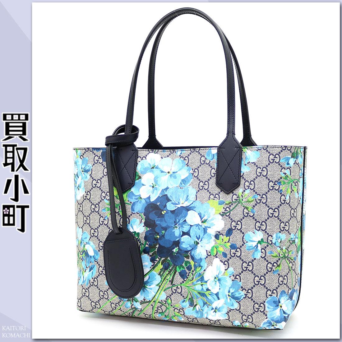 KAITORIKOMACHI | Rakuten Global Market Gucci GG Bloom Reversible Leather Tote Bag Blue GG ...