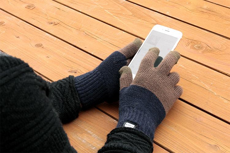 エヴォログ スマートフォン手袋 2TON