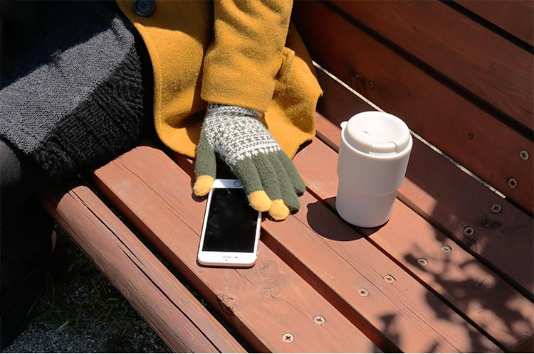 エヴォログ スマートフォン手袋 FLEUR
