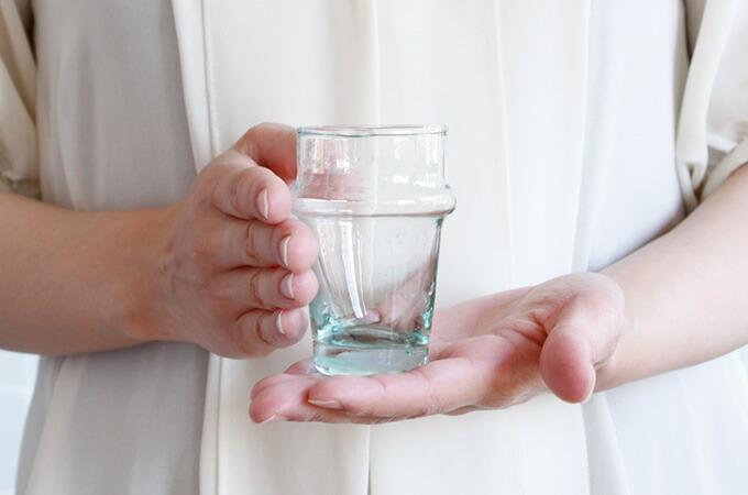 dear morocco ディアモロッコ リサイクル ティーグラス 8cm
