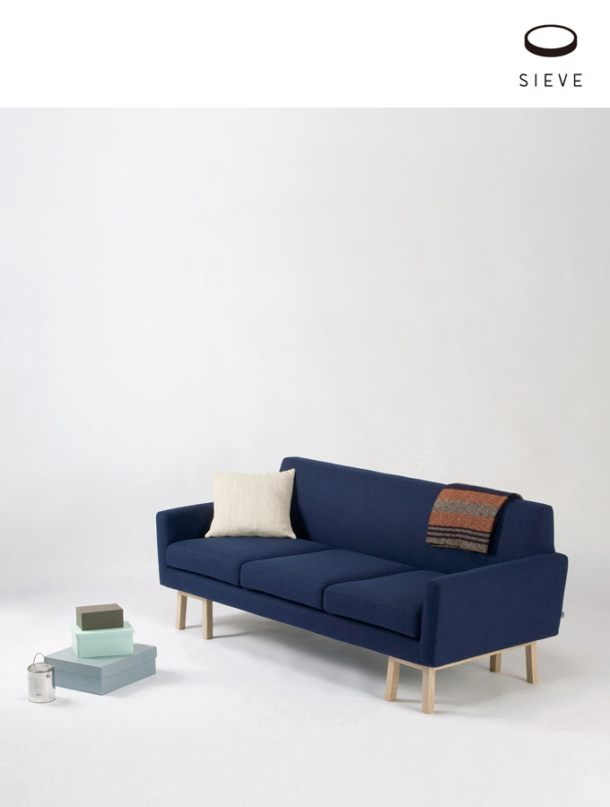 seive float sofa wide 3 seater Fabric A フロートソファ 3人掛けカバー