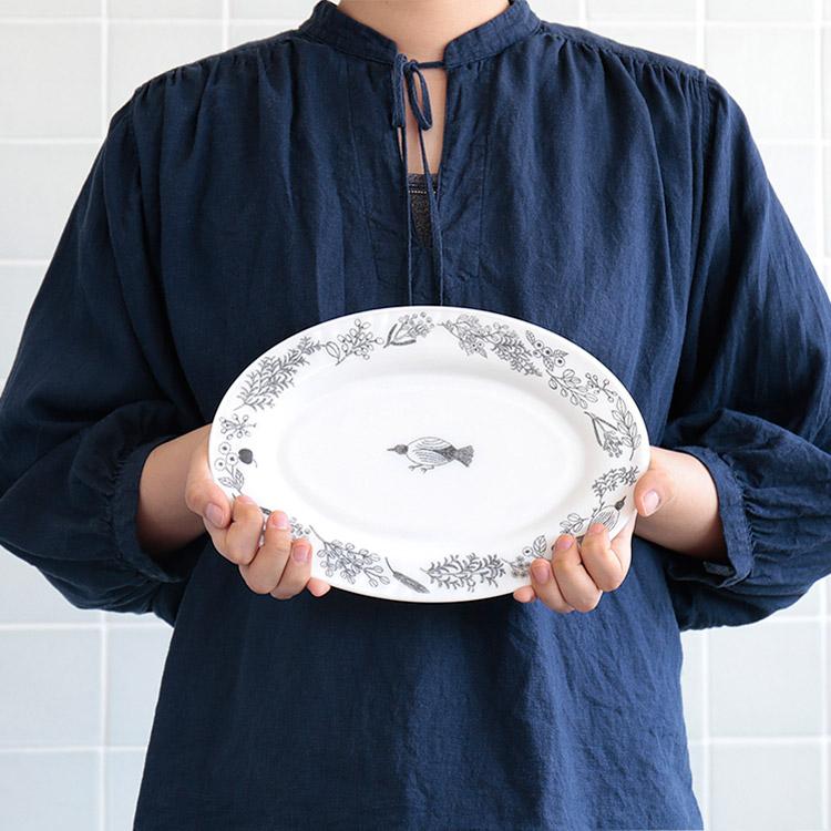 松尾ミユキ ミルクプレート オーバル Lサイズ