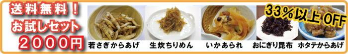 佐藤食品 送料無料お試し佃煮セット2000円