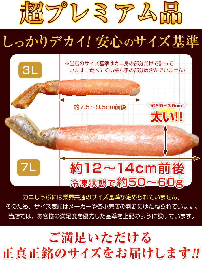 しっかりデカイ!釜庄の蟹しゃぶサイズ基準。