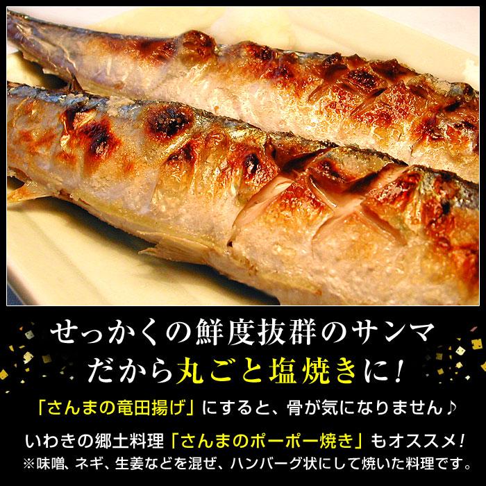 さんまの塩焼き、サンマの竜田揚げ、いわきの郷土料理さんまのポーポー焼きにどうぞ