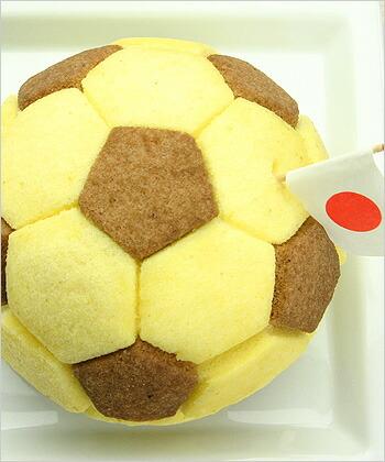 サッカーのデコレーションケーキ