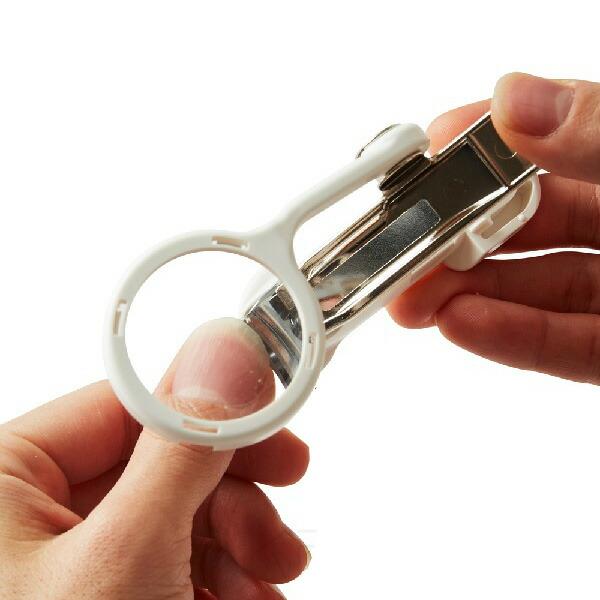 【商品到着後レビューで送料無料】【定形外郵便対応】グリーンベル匠の技ルーペ付き爪切りG-1004見やすくて便利