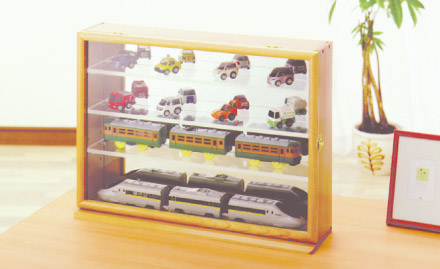 【新アイテム記念約40%off】コレクションケースワイド透明アクリル棚板タイプ'☆'