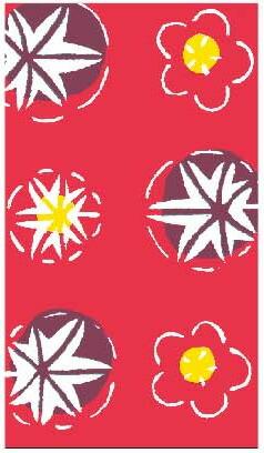 千代マステ(千代紙柄マスキングテープ)花てまり(55-6513)