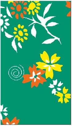 千代マステ(千代紙柄マスキングテープ)花小径(55-6514)