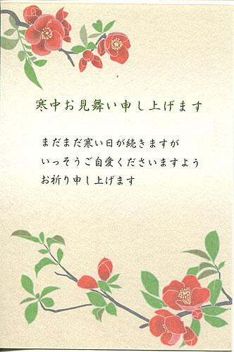 寒中見舞いはがき寒中ポストカード5枚入り(100-125)