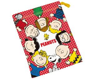 スヌーピー[Snoopy]PEANUTSコップ袋(コップ巾着/カップきんちゃく)(KB62/437816)