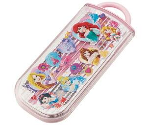 ディズニープリンセス[DisneyPrincess]食洗器対応スライドトリオセット(名入れスペース付お箸)(箸・スプーン・フォーク入)(TCS1AM/439803)