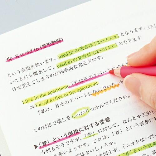 HiLINE「鉛筆の蛍光マーカー4色セット」鉛筆タイプ蛍光ペン4色セット(PA001)