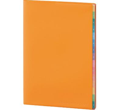 2020年B6サイズマンスリー(月間)2019年12月始まりカラーインデックスダイアリー(表紙色オレンジ)(令和2年)版ダイアリー(スケジュール帳)(RFD2050D)