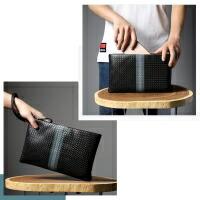 HAUTTON  セカンドバッグ 編み込み風型押し 本革
