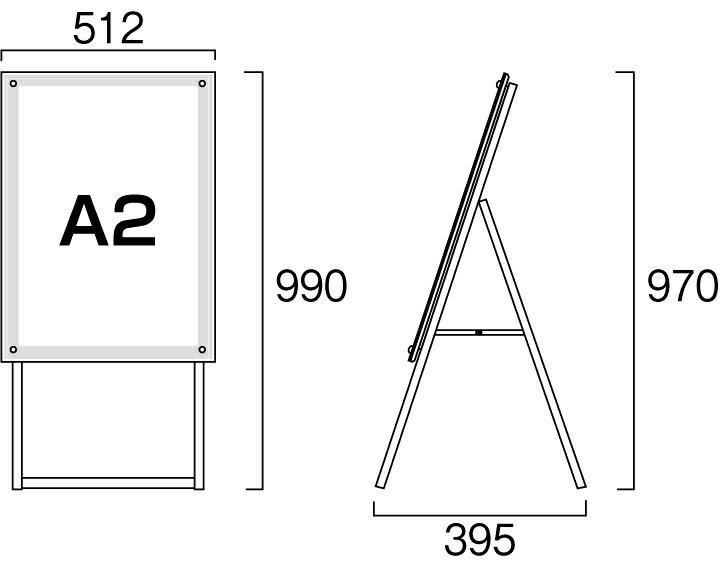 ポスター用スタンド看板LED A2K