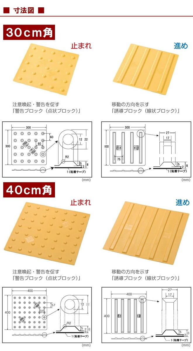 ブロック サイズ 点字