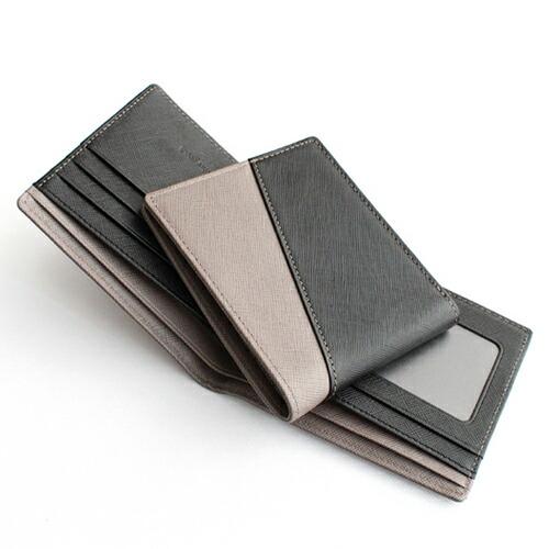 サフィアーノDiagonal ブラック/グレー